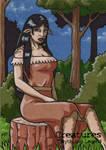 Deer Woman - Sketch Card