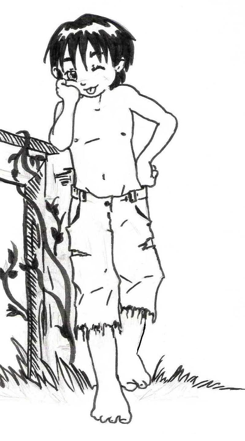 how to draw : tom sawyer