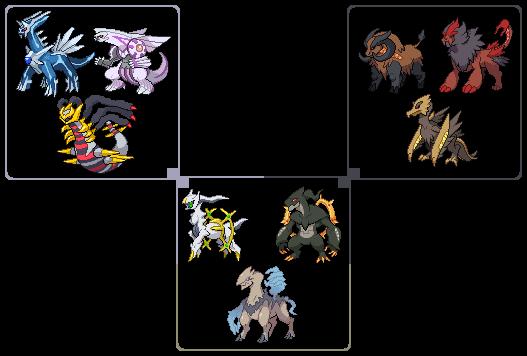Holy Trinity of Pokemon by leparagon