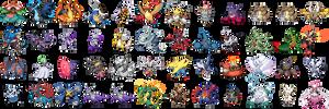 Mega evolution sprites (WIP)