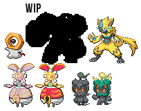 SunMoon mythical Pokemon by leparagon