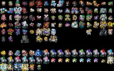 Gen 7 Pokemon sprites (WIP)