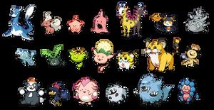 Gen2 beta Pokemon (WIP) by leparagon