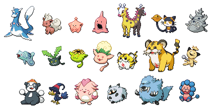 Gen2 beta Pokemon (WIP) by leparagon