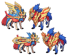 Sword/Shield Zacian and Zamazenta sprites