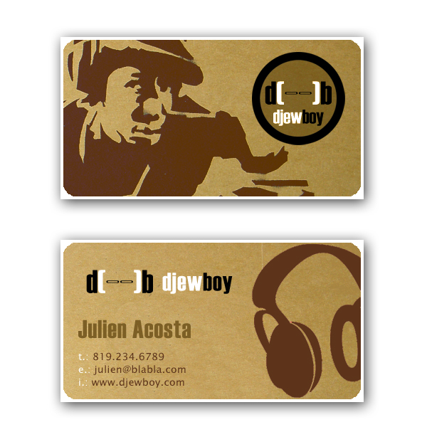 Dj business card by dadoo-freelance
