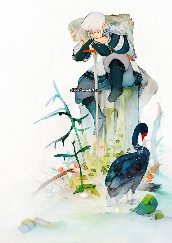 Odile and the Swan by ELK64