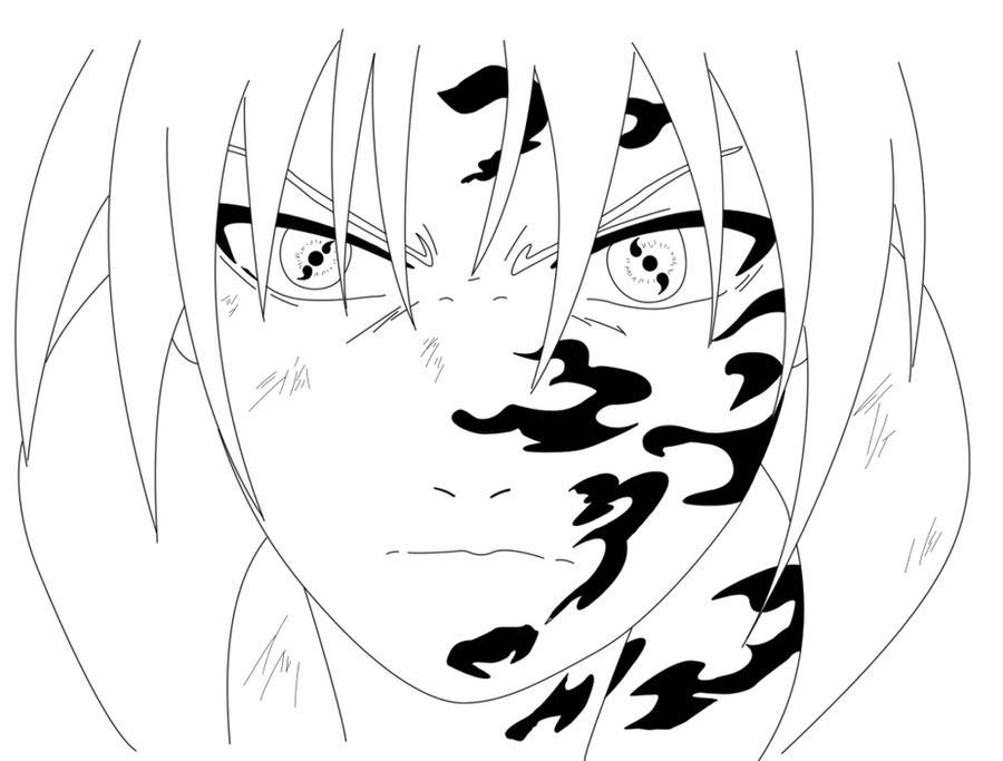 sasuke curse mark line art by suleeman on DeviantArt