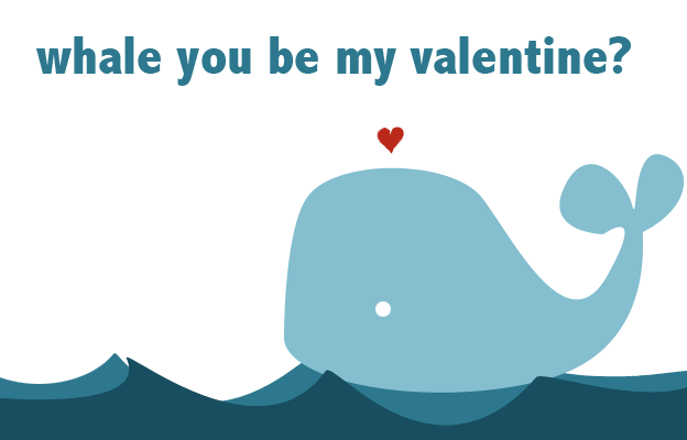 Elegant Whale You Be My Valentine? By Subskyline ...