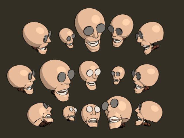 Spooky Heads by Silver-Rin