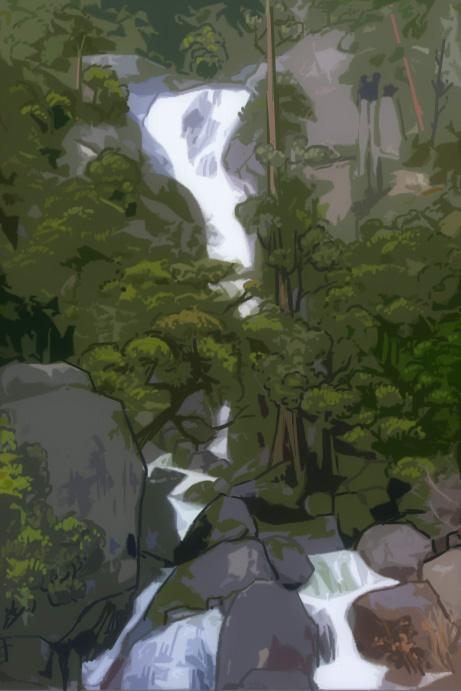 Yosemite Falls 01 by Silver-Rin