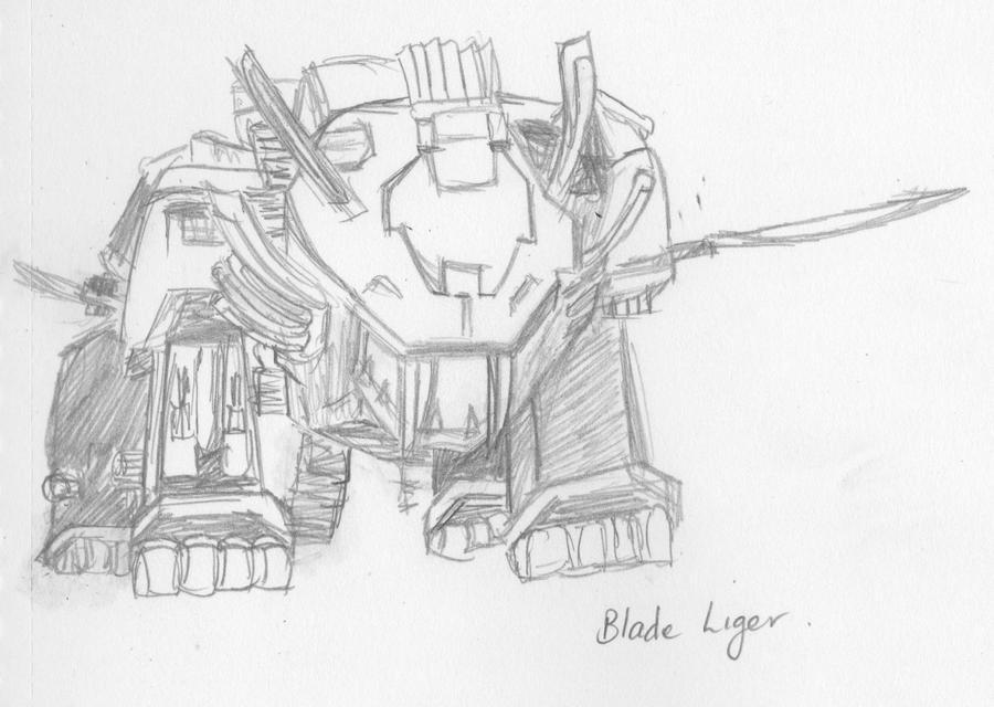 Blade Liger Sketch by darkened-storm