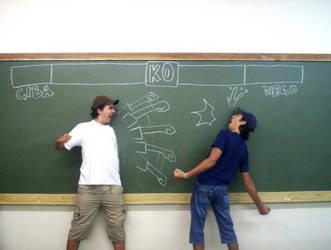 Street Fighter in school 1