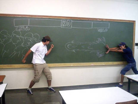 Street Fighter in school 2