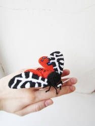 Needle-Felted Moth - Arctia Caja by MarrieKo
