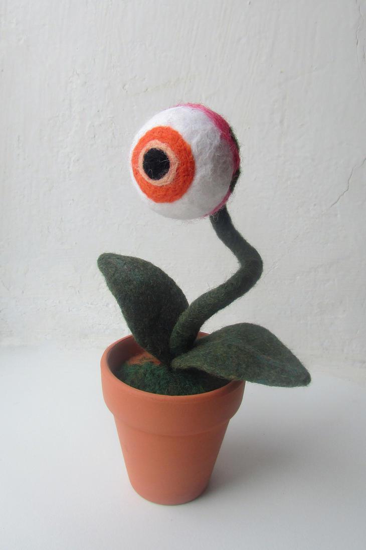 Eyeball Plant #3 by mar-rie