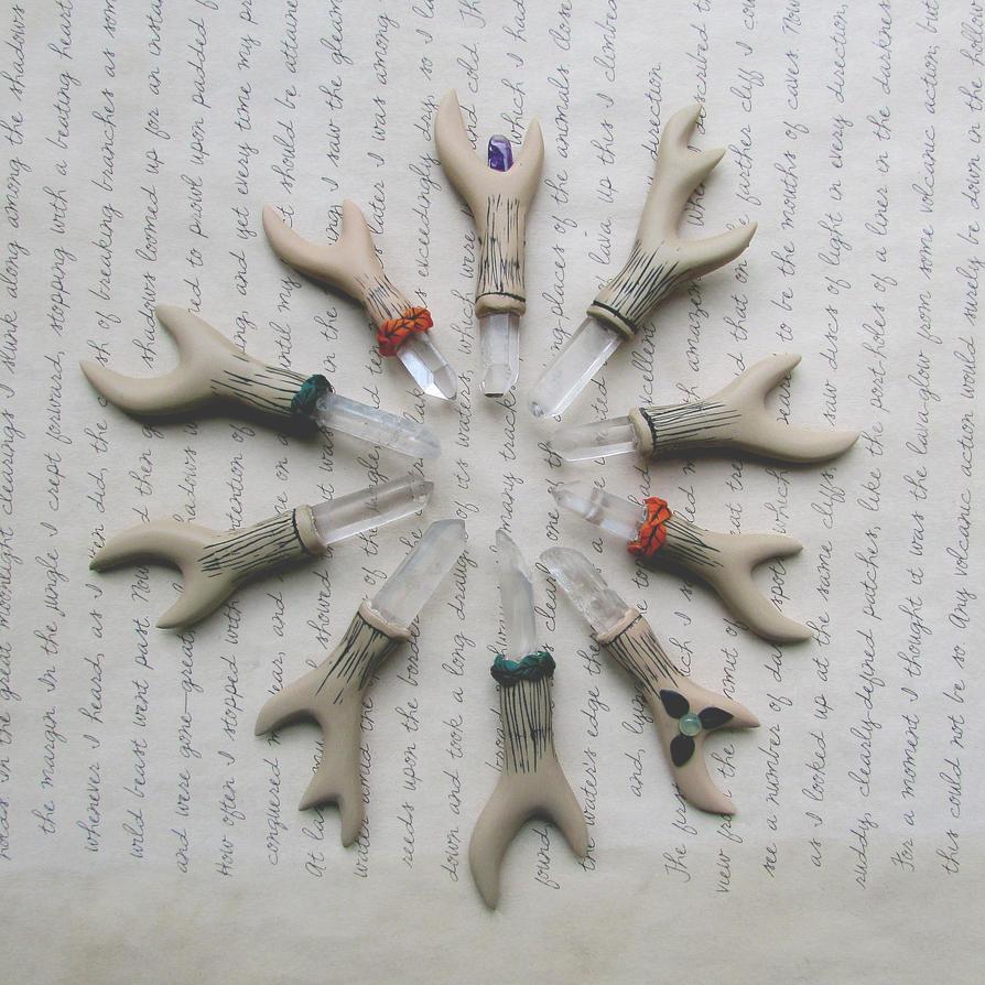 Antlers Pendants by mar-rie