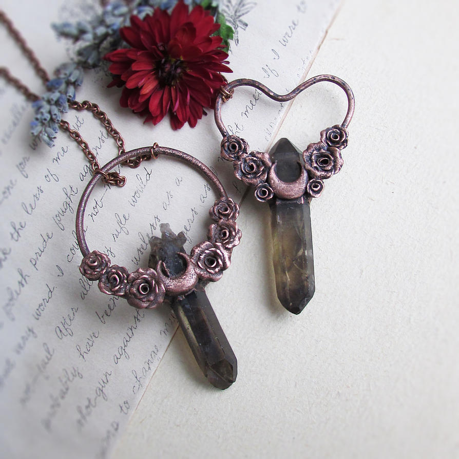 Sailor Moon inspired pendants by MarrieKo