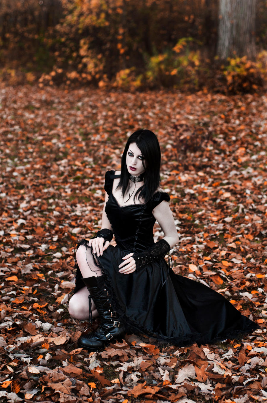 Goth Girl Stock 01 by MeetMeAtTheLake2Nite
