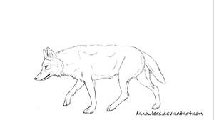 Free lineart: Canine