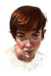 Portrait Study by DragonicDarkness