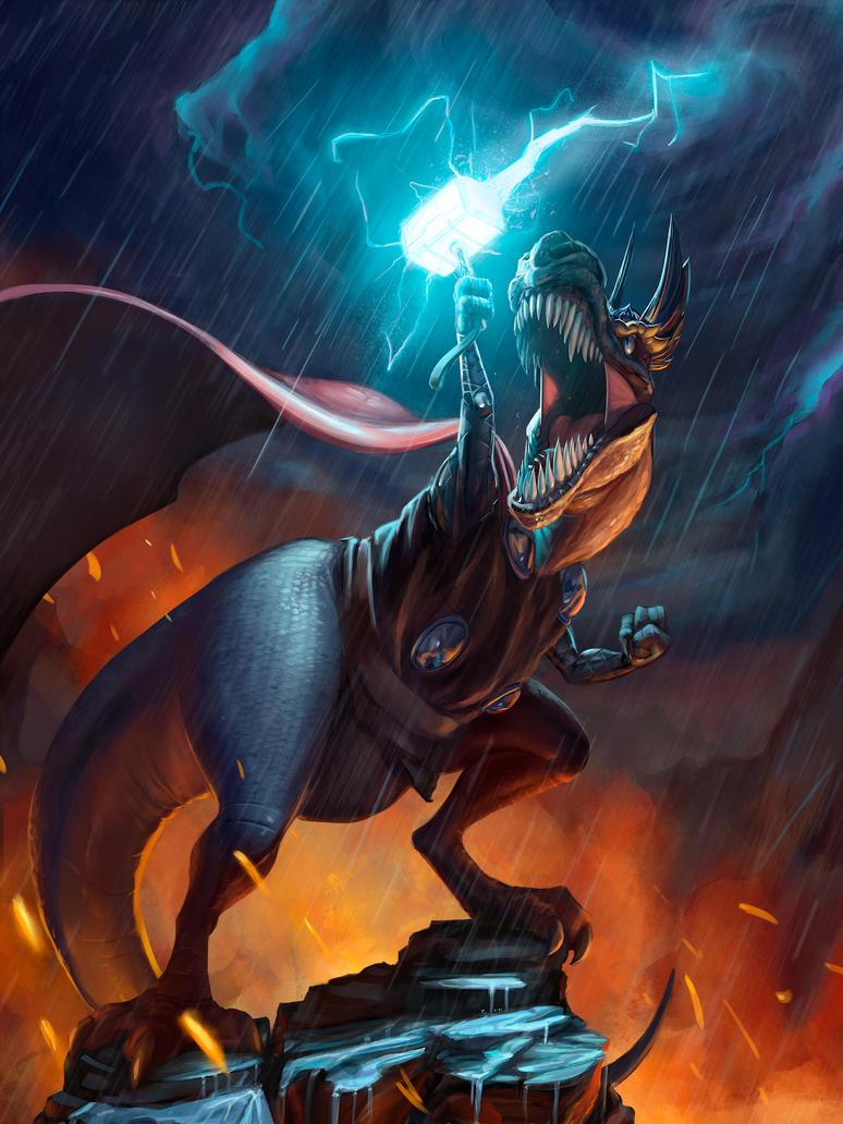 DinoThor by DragonicDarkness