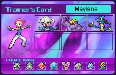 Maylene's Trainer Card by SapphireRose-chan