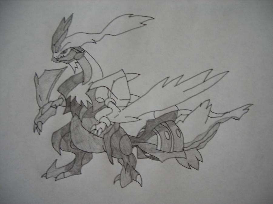 how to draw pokemon black kyurem