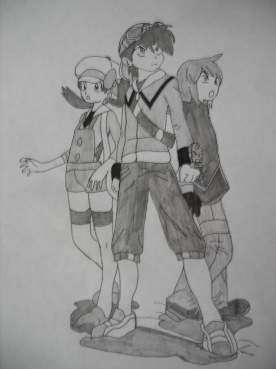 Pokedex Holders ~Johto~ (Shaded) by SapphireRose-chan