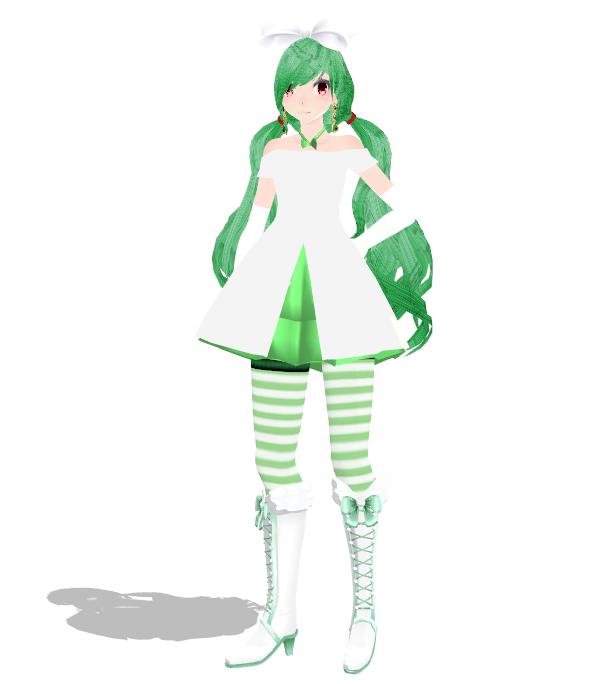 [MMD Newcomer] Kirlia Gijinka by SapphireRose-chan