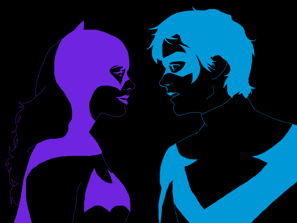Neon Love, Dick and Babs by Allam