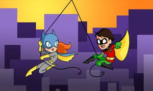 Swinging through Colorful Gotham