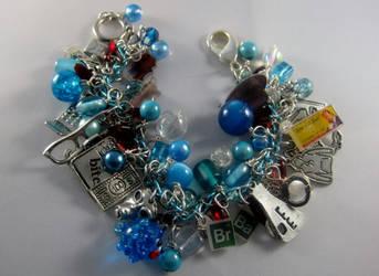 Deluxe Breaking Bad-themed Charm Bracelet by Gothscifigirl
