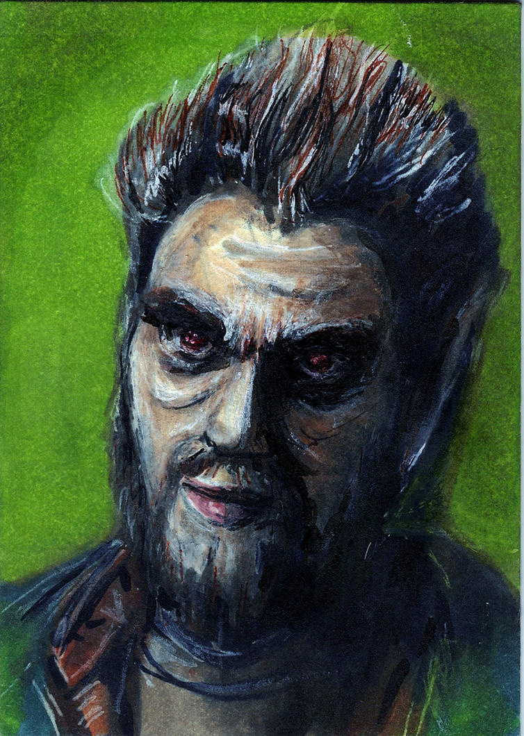 Blutbad Monroe from Grimm Sketch Card by Gothscifigirl