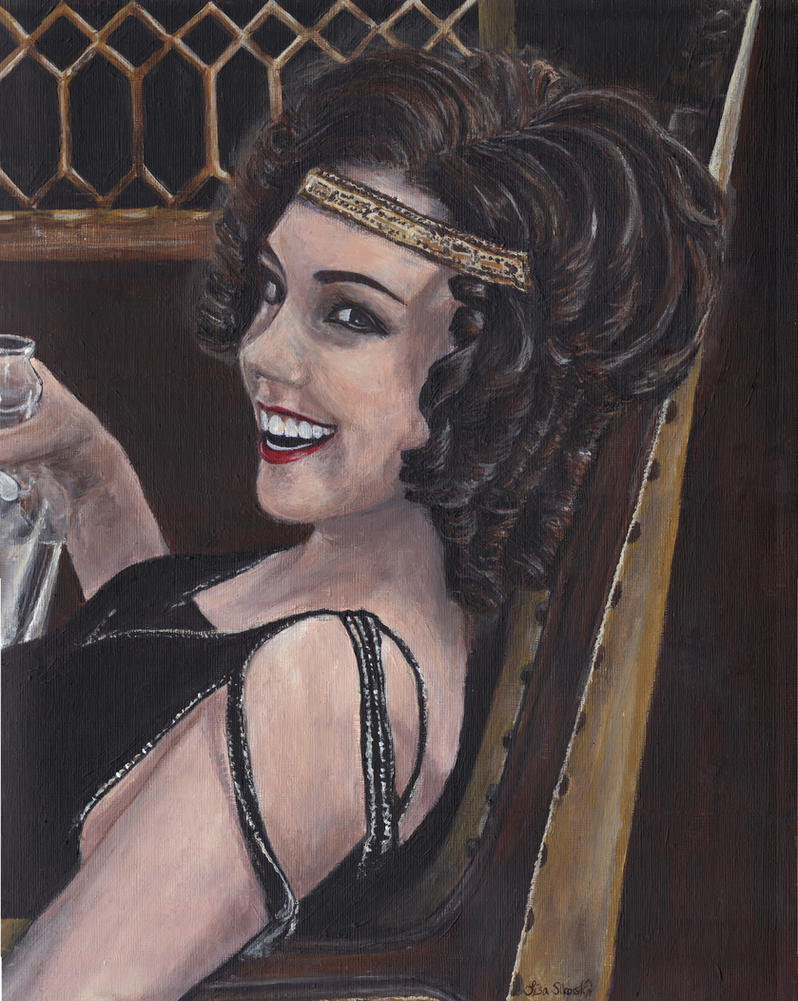 Billie Kent from Boardwalk Empire Acrylic Painting by Gothscifigirl