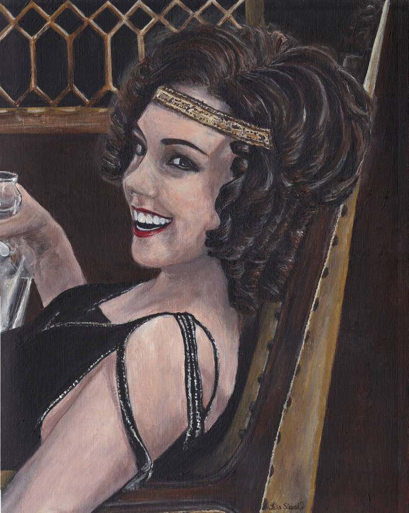 Billie Kent from Boardwalk Empire Acrylic Painting