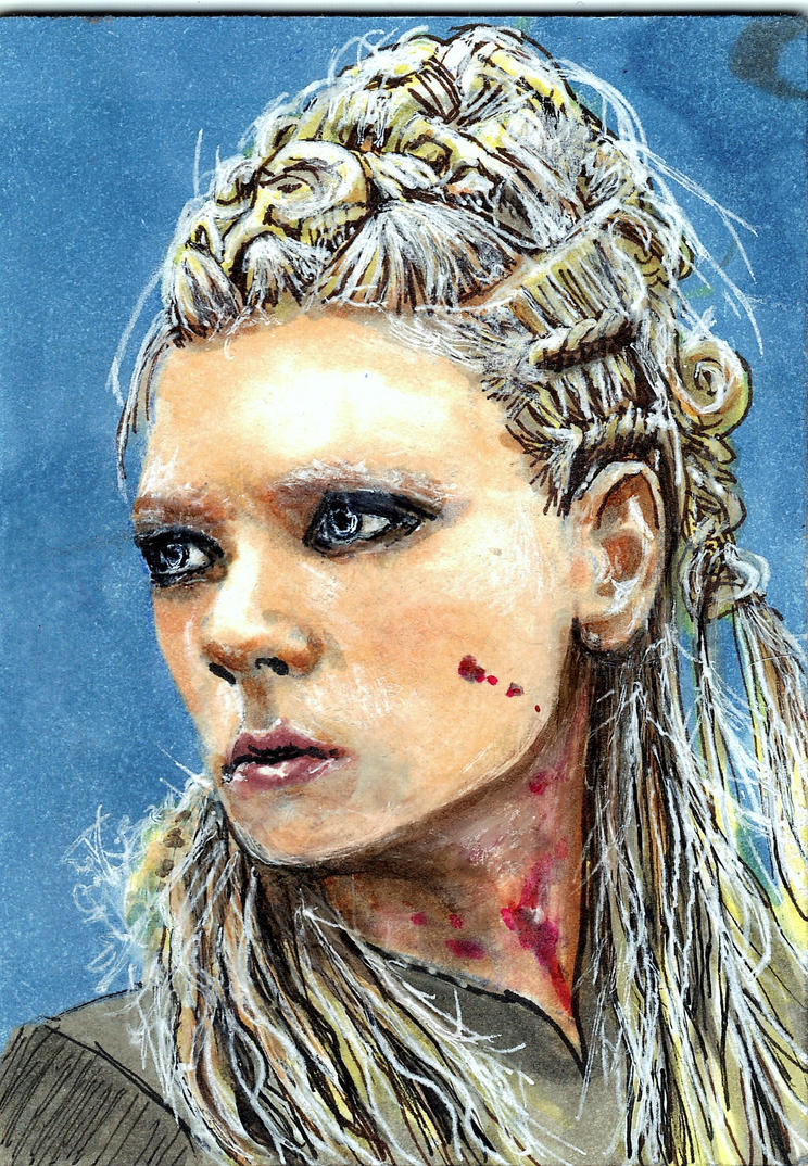 Lagertha from Vikings Sketch Card by Gothscifigirl