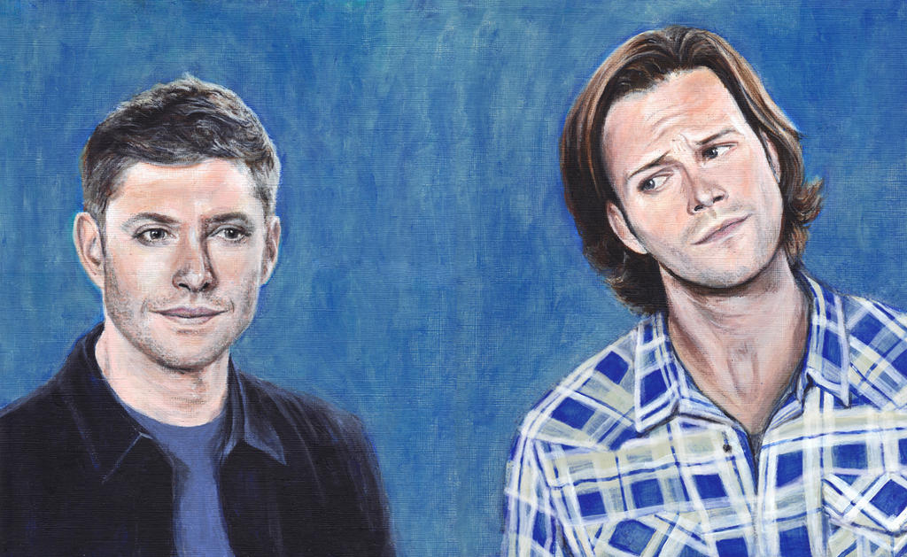 Sam and Dean Winchester Acrylic Painting by Gothscifigirl