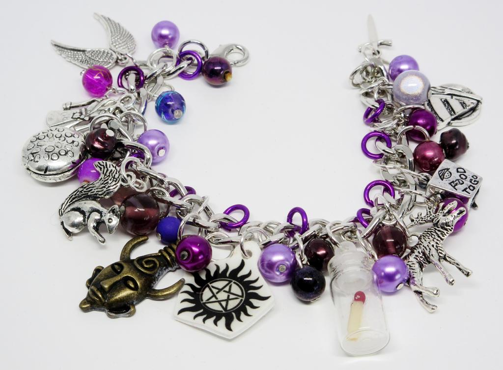 Supernatural Charm Bracelet by Gothscifigirl