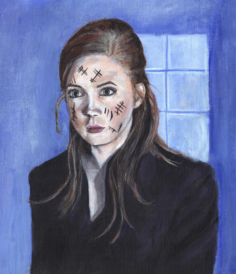 Karen Gillan as Amy Pond Acrylic Painting by Gothscifigirl