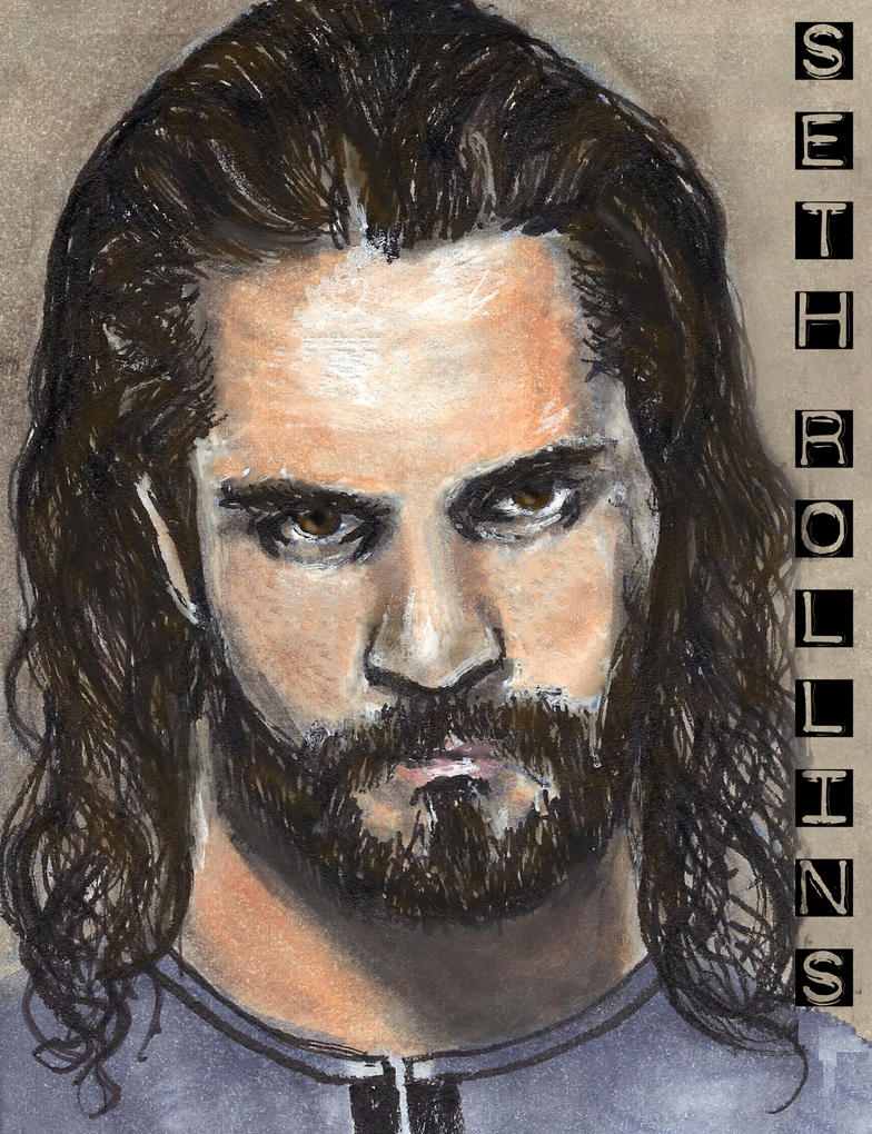 Seth Rollins Sketch Card Copics by Gothscifigirl