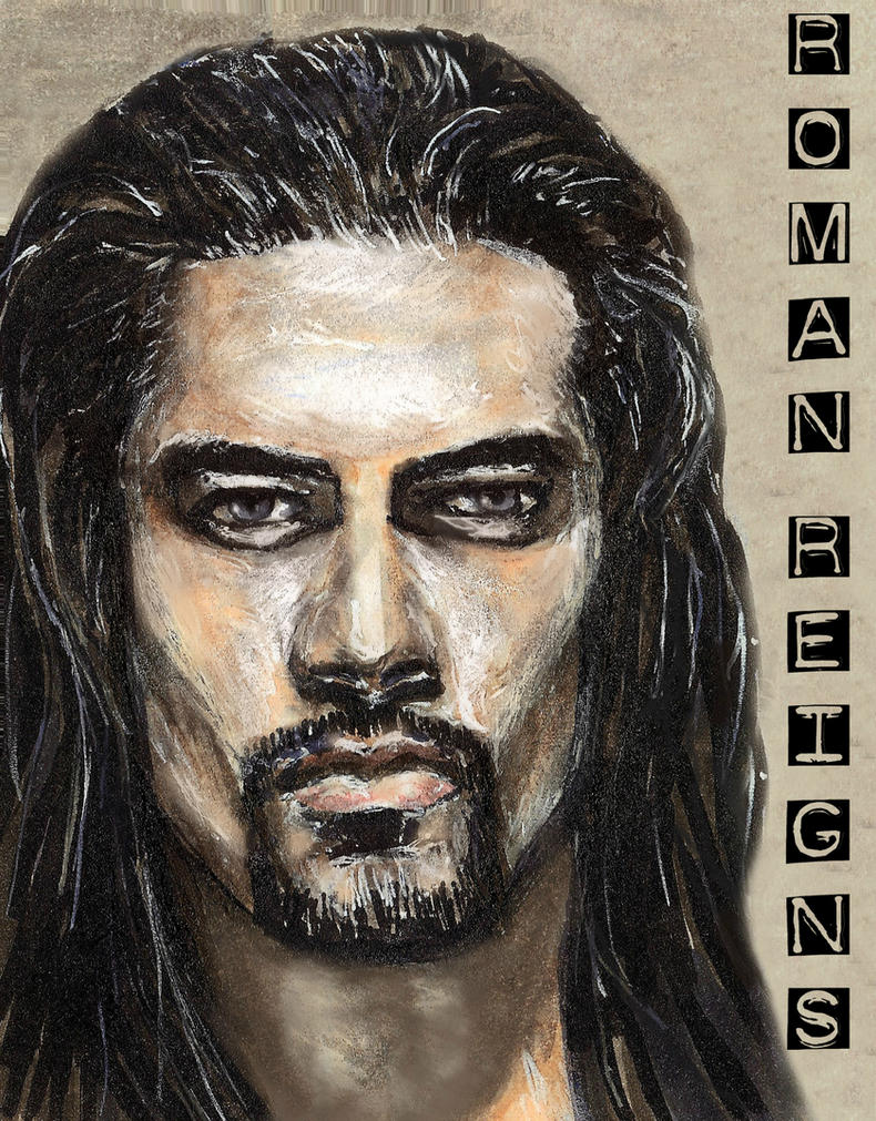 Roman Reigns Sketch Card Copics by Gothscifigirl