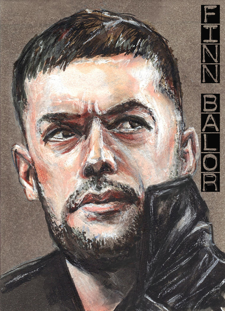 Finn Balor Copic Sketch Card WWE by Gothscifigirl