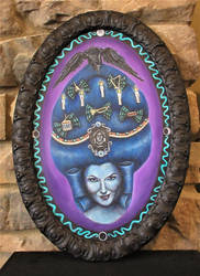 Haunted Mansion Madame Leota Rococo Acrylic by Gothscifigirl