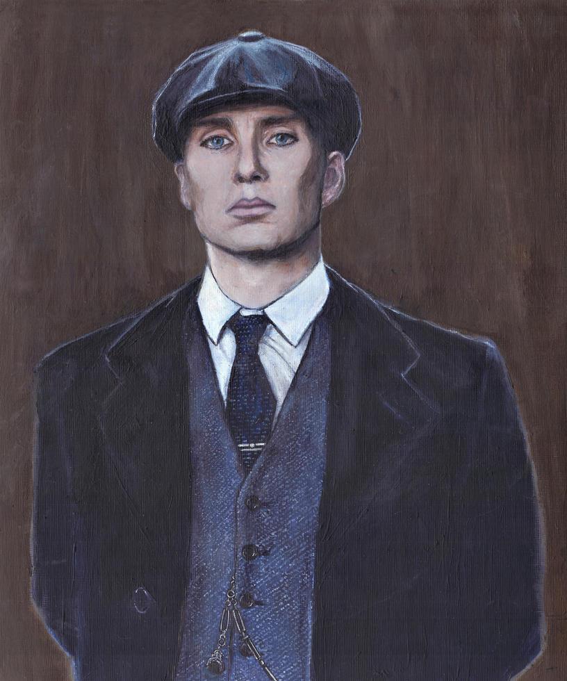 Cillian Murphy Peaky Blinders Acrylic Painting by Gothscifigirl