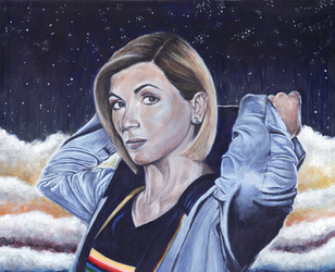 Jodie Whittaker as Thirteen Acrylic Painting by Gothscifigirl
