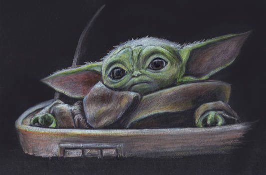 Baby Yoda (The Child) Colored Pencil Sketch