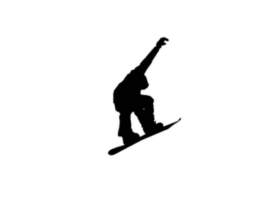Snowboarding black and white