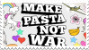 Make Pasta Not War stamp 2. by UnstableTable