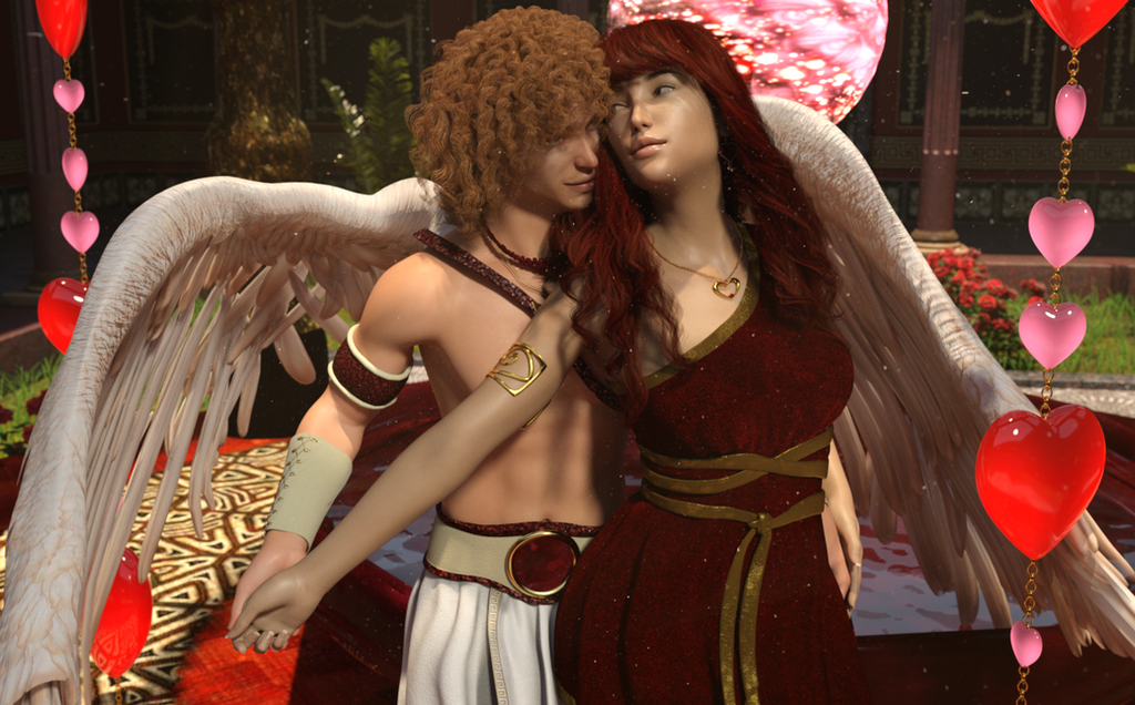 Eros and Psyche Valentine 2018 by DiannaSilver